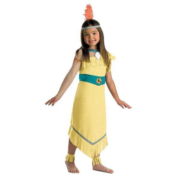 Как сделать костюм индейца девочками