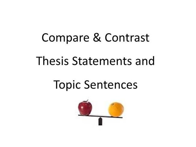 Compare Contrast Essay Thesis Topic Sentence Examples Topic Sentences Sentence Examples Compare And Contrast