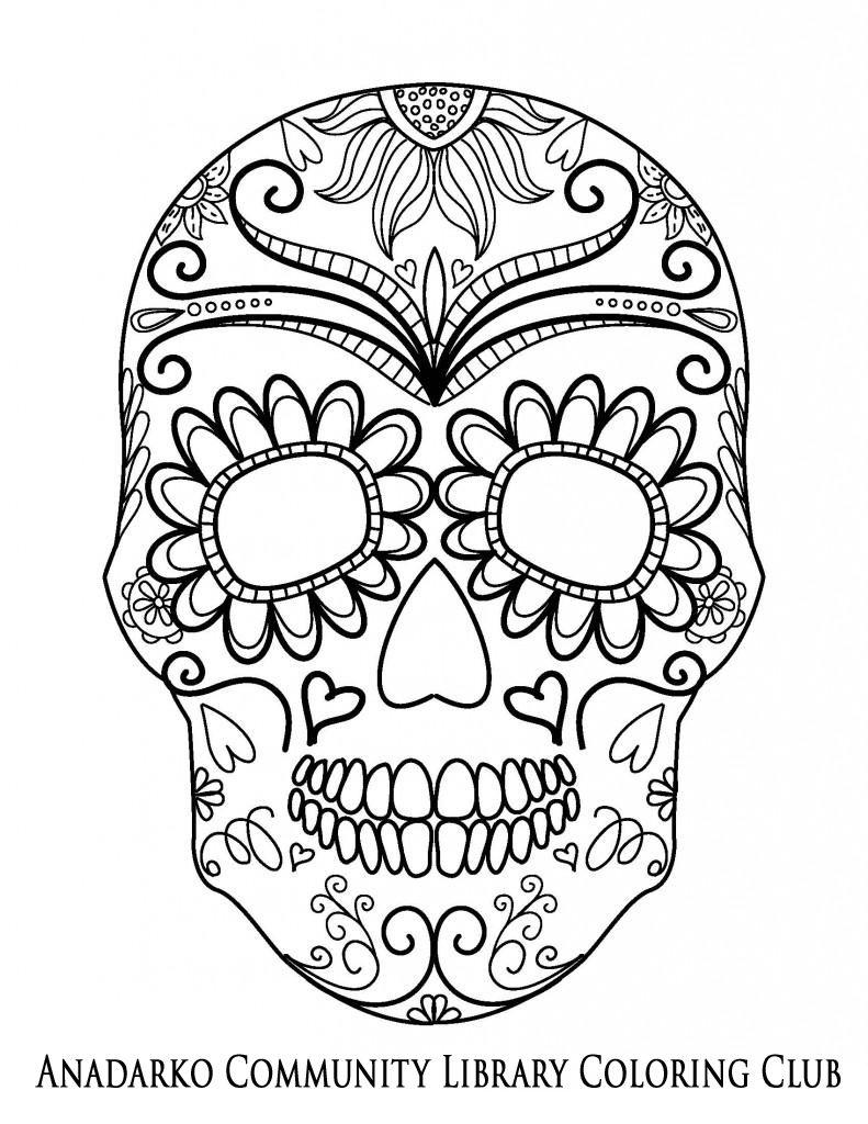 sugar-skull-ornate-forehead | Design | Pinterest