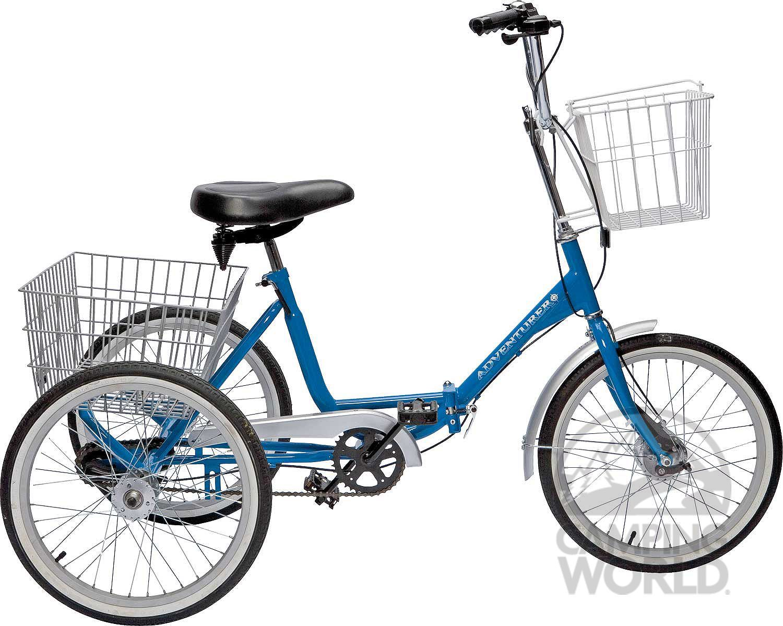 Adventurer Three Sd Folding Trike Intersource Enterprises D09 1015 Bikes Camping World 439
