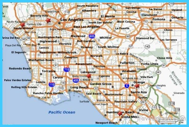Cool Map Of Los Angeles California Los Angeles California Los Angeles Rock Radio