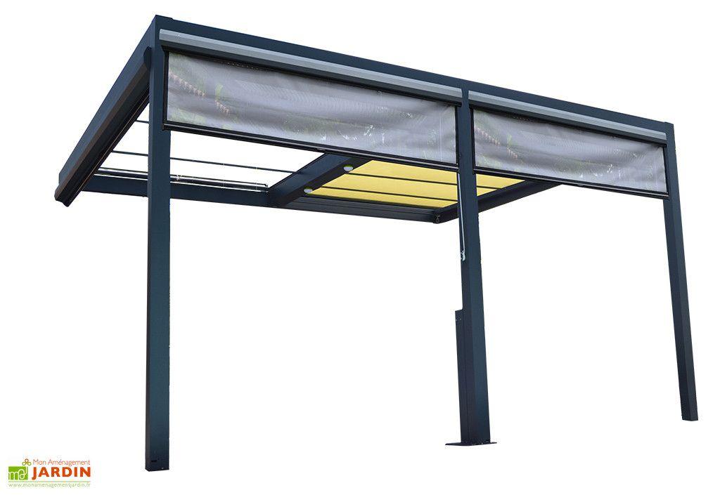 pergola adossee aluminium store coffre