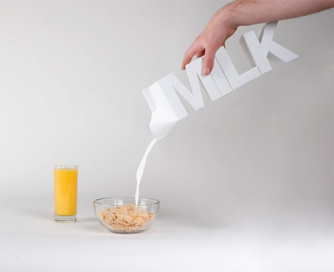 Julien De Repentigny, Gabriel Lefebvre - Milk package design  ... even if i do NOT drink milk