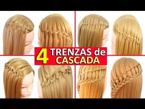 Como hacer una trenza en cascada 4 formas diferentes - Como hacer peinados faciles ...