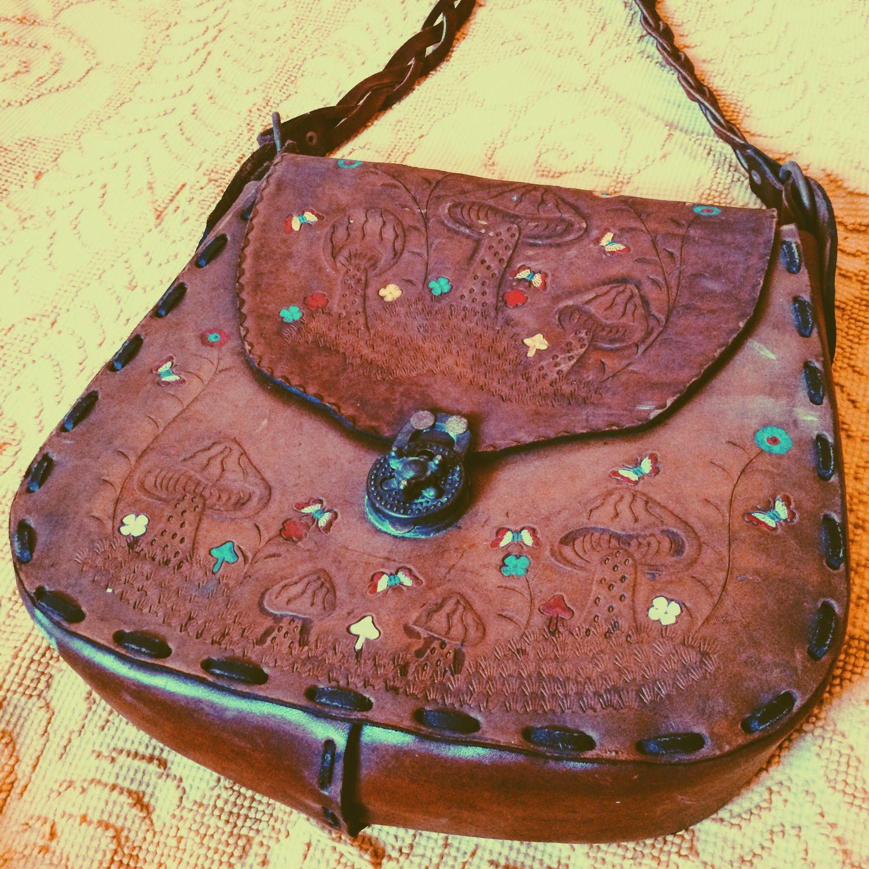 MUSHROOM LOVE 70s Leather Bag