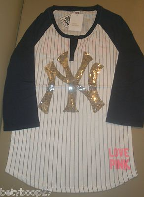 the latest ea86e fa812 Details about Victorias Secret PINK Love MLB New York ...