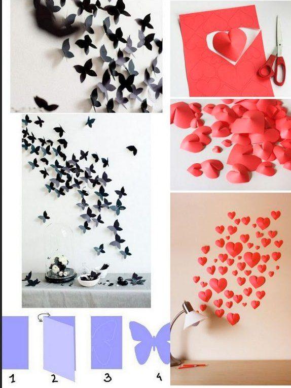 Kreatif   Cara Membuat Hiasan Dinding Cantik dari Kertas Origami