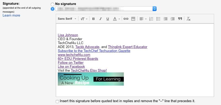 Use CANVA to Create a Custom EMAIL SIGNATURE (I used 250 px by 50 px