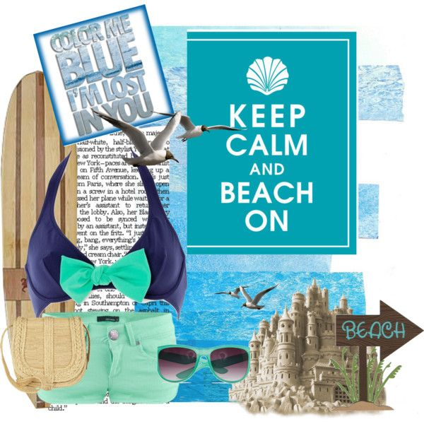 Off to the Beach, created by myra-bexx-draven on Polyvore