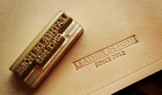 Personalized Leather Stamp With Hammering Handle