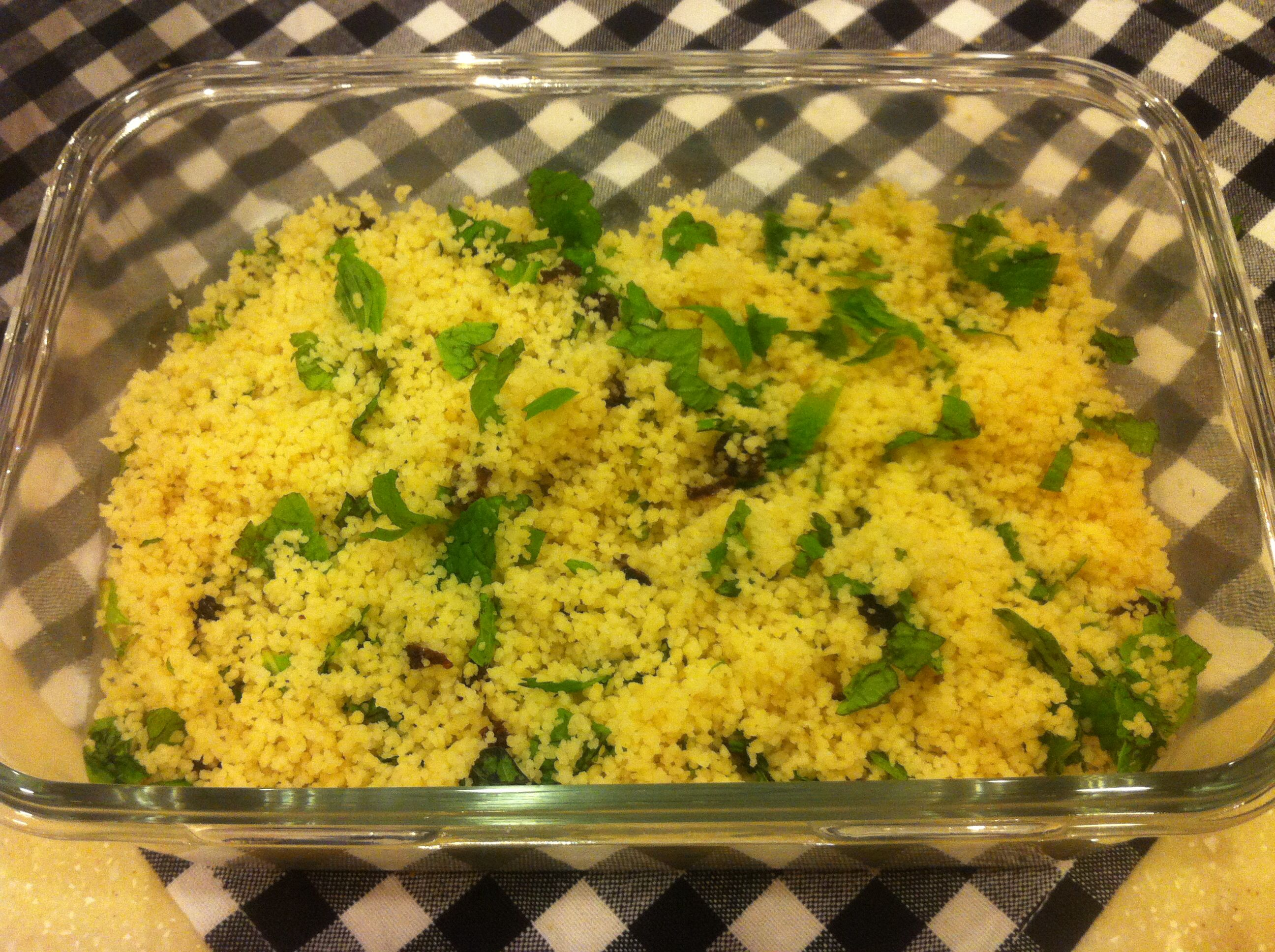 Herbs and sultanas couscous