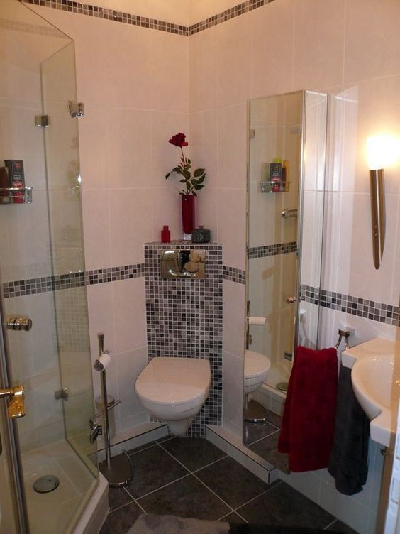 Badezimmer ideen kleines bad Minimalist, Interiors and House