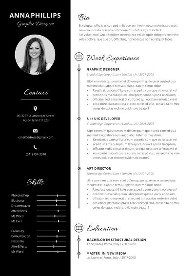 Nevus Functional resume template, Functional resume
