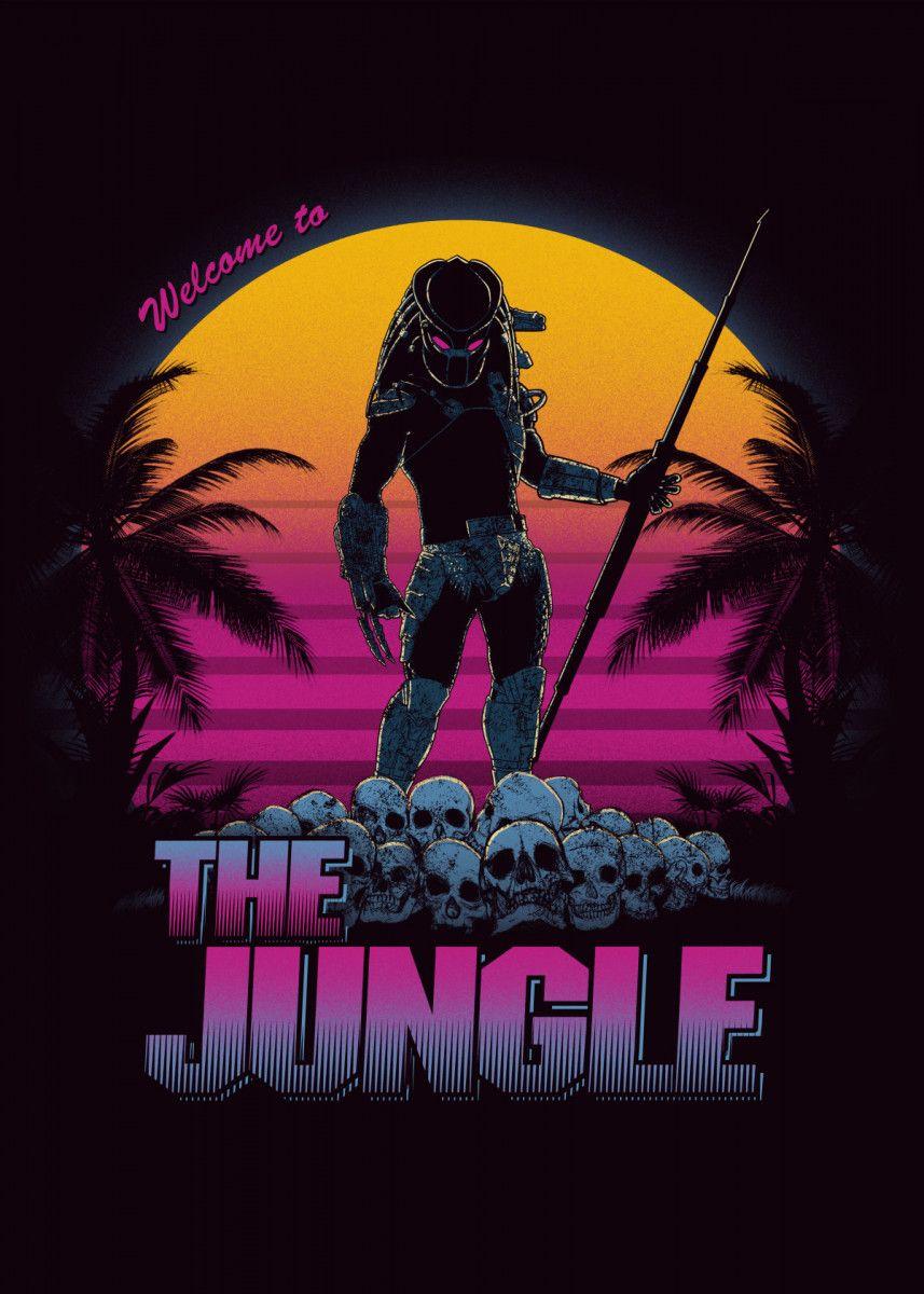 Predator Logo Alien 80s Movie Inspired Mens Hoodie …
