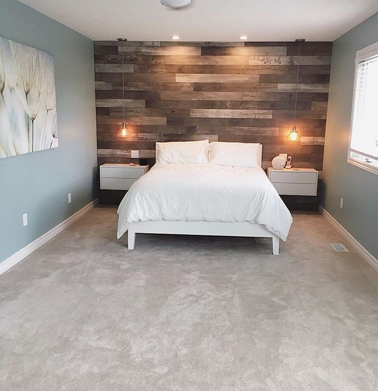 Flooring Doesn T Just Have To Be For The Floor This Customer Created A Gorgeous Feature Wall Feature Wall Bedroom Laminate Flooring On Walls Flooring On Walls