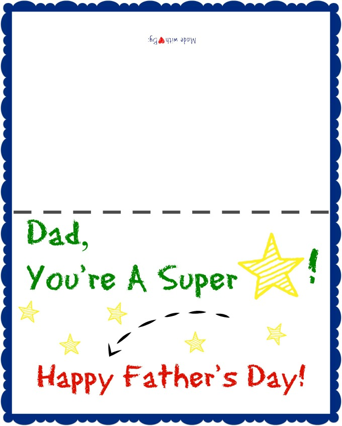 fathers day card worksheet - 680×847