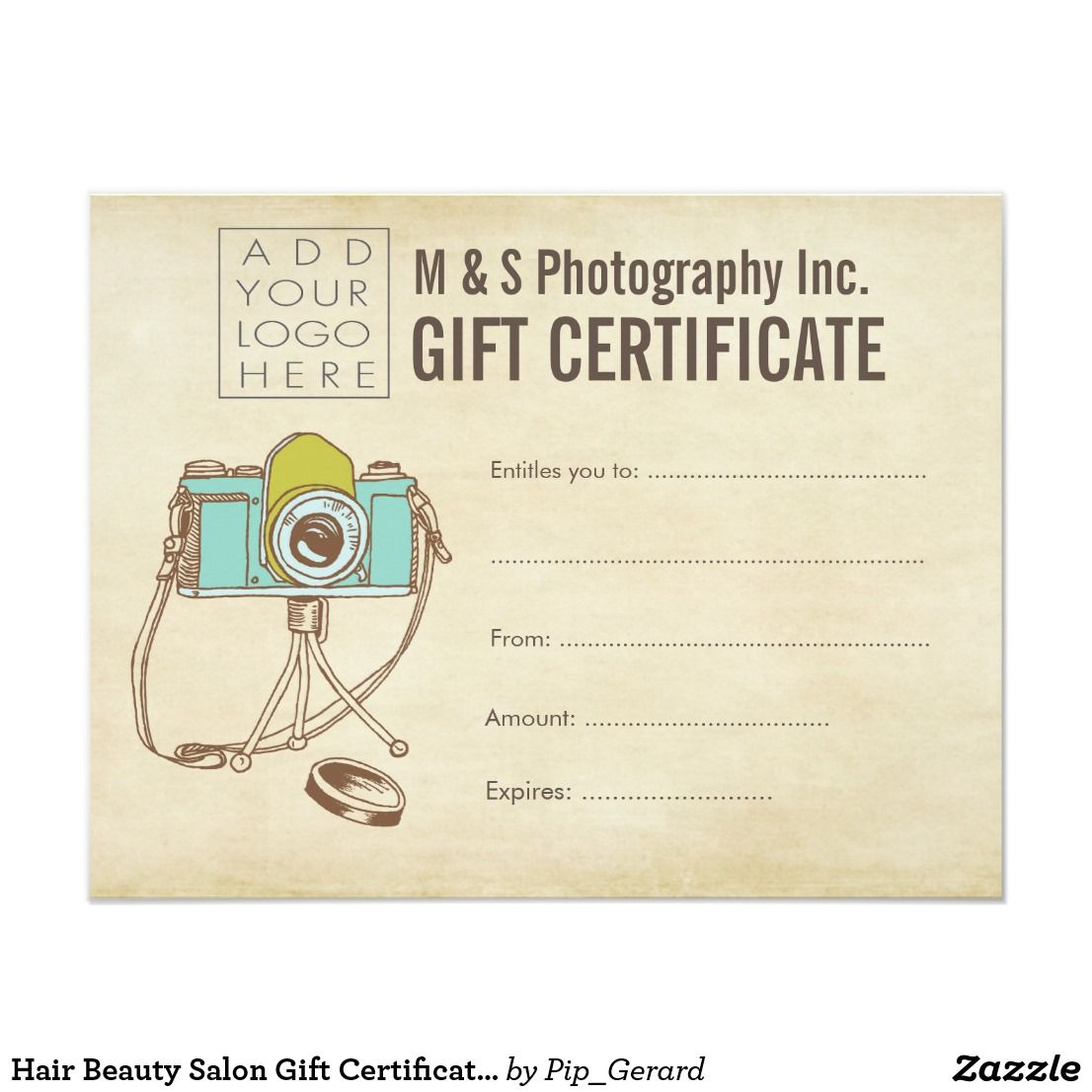 Hair Beauty Salon Gift Certificate Template  Zazzle.com in 15