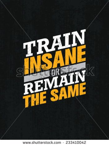Motivational gym poster print TRAIN INSANE OR REMAIN THE SAME