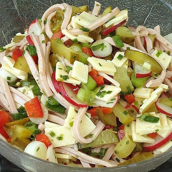 Bunter Wurstsalat #sausagedinner