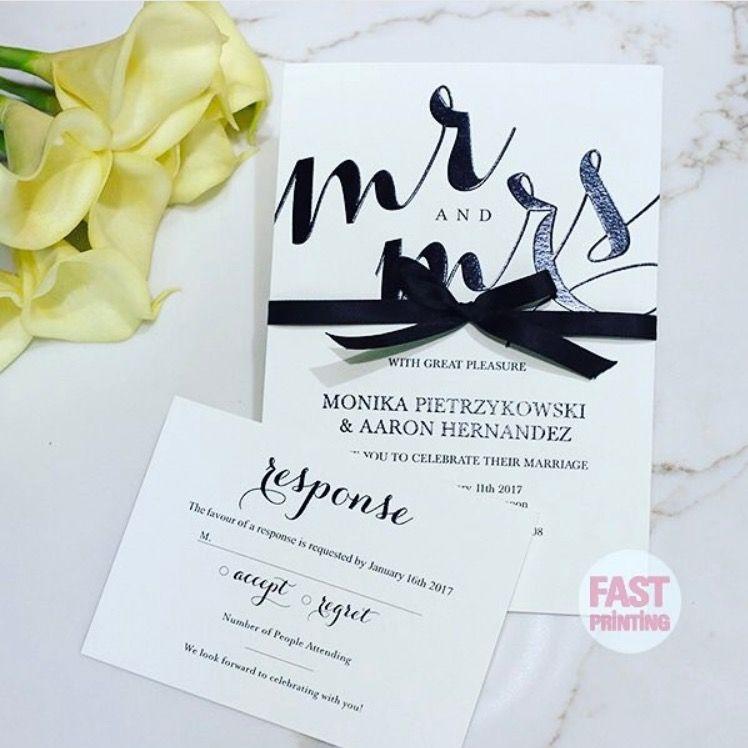Raised ( Thermography ) Wedding Invitation U0026 RSVP #fastprinting #wedding  #printing #design