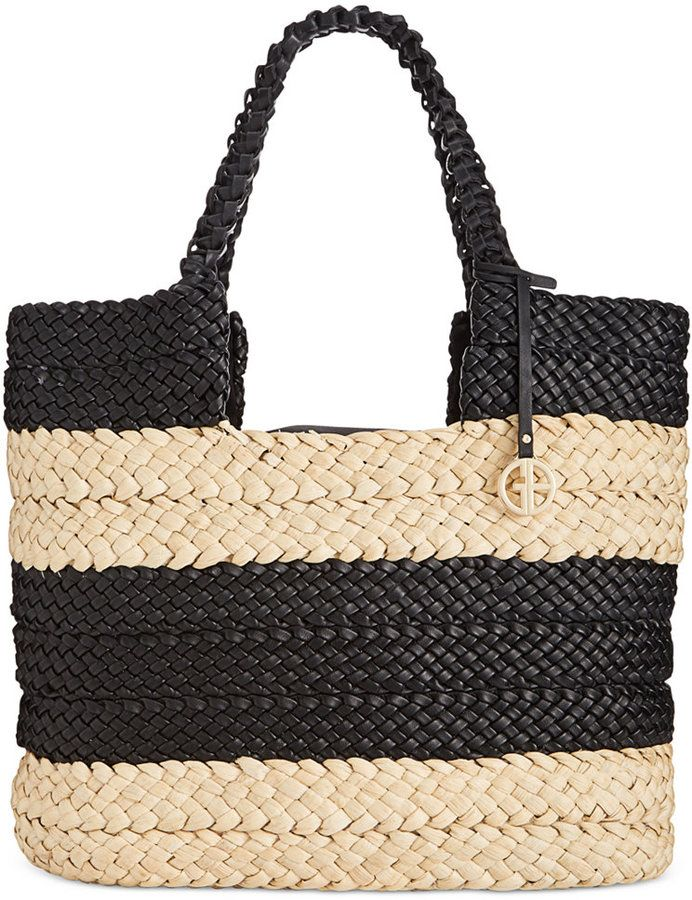 5113b60fd973 Giani Bernini Striped Straw Tote great for the markets.