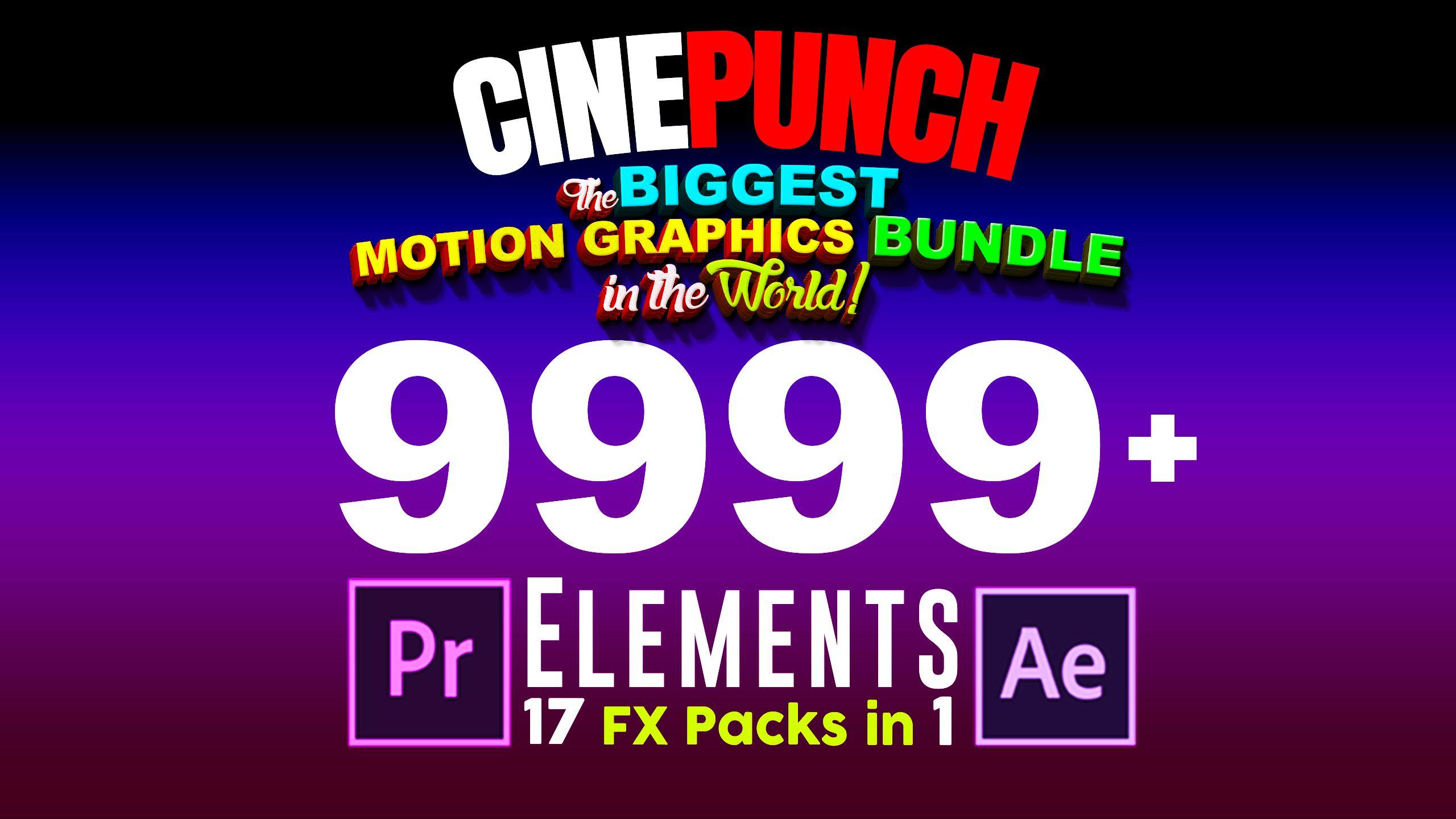 Cinepunch Bundle Premiere Transitions I Color Looks I Sound Fx I