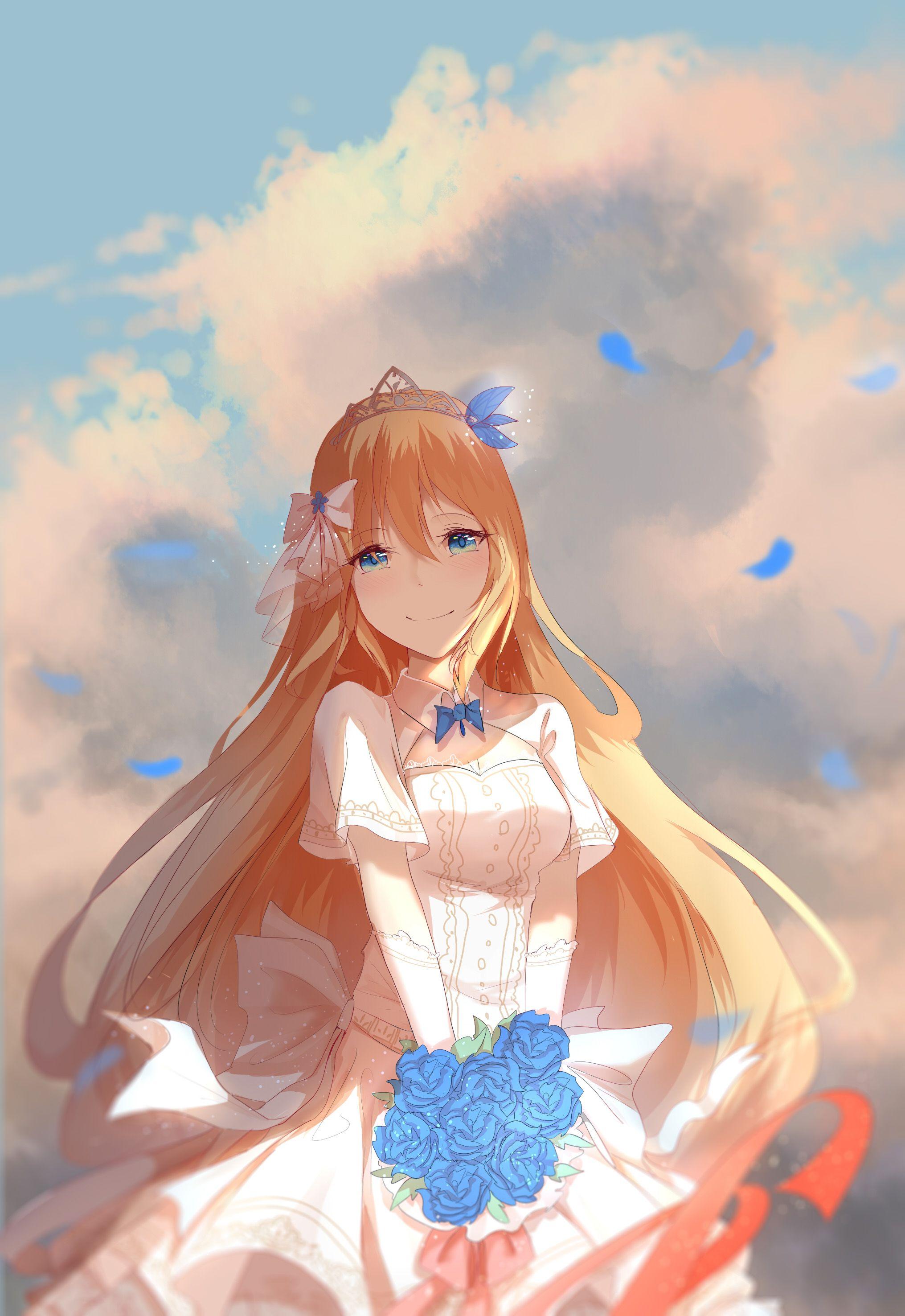 Anime girl - wedding dress | Manga - Anime | Pinterest