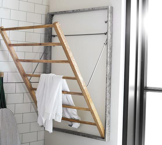 Galvanized Laundry Organization System Drying Rack Laundry