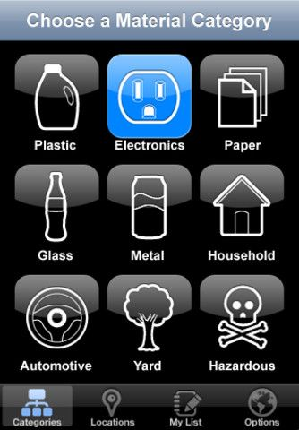 My Recycle List iPhone app Quickly find recycling