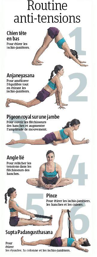 Ces exercices anti-tensions permettent d'étirer les muscles, allonger la foulée et augmenter l'amplitude de mouvement lors de la course à pied. #healthandfitness