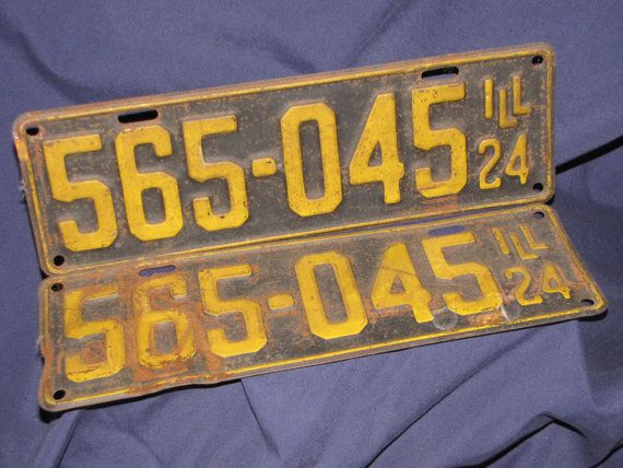 License Plates 1920s Vintage car plates Menu0027s by LazyYVintage & RESERVED For G Staz-------License Plates 1920s Vintage car plates ...