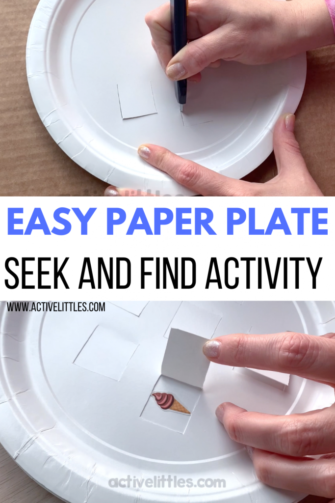 Easy Paper Plate Ice Cream Seek And Find Activity For Kids Active Littles Activities For Kids Bible Games Kids Paper Plates
