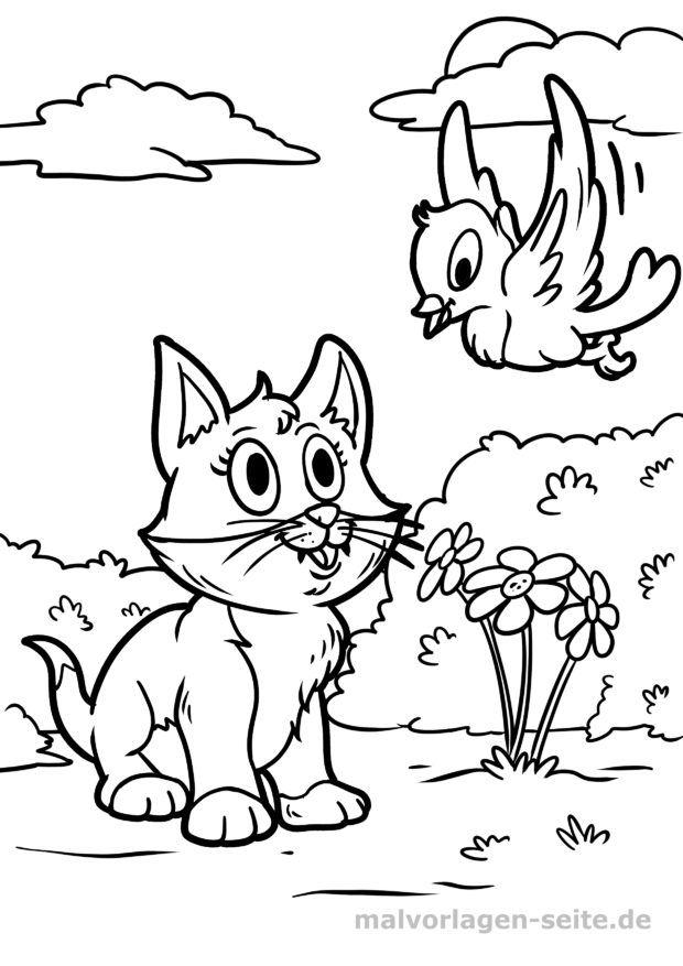 Ausmalbilder Katzen Fur Kinder Kostenlos Drucken Und Ausmalen