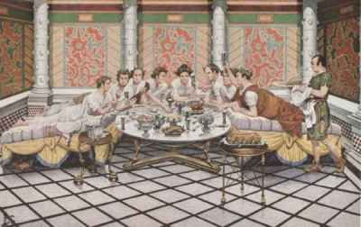 roman dining room | Pin by Hume-Fogg on Obeseus Family | Roman history ...
