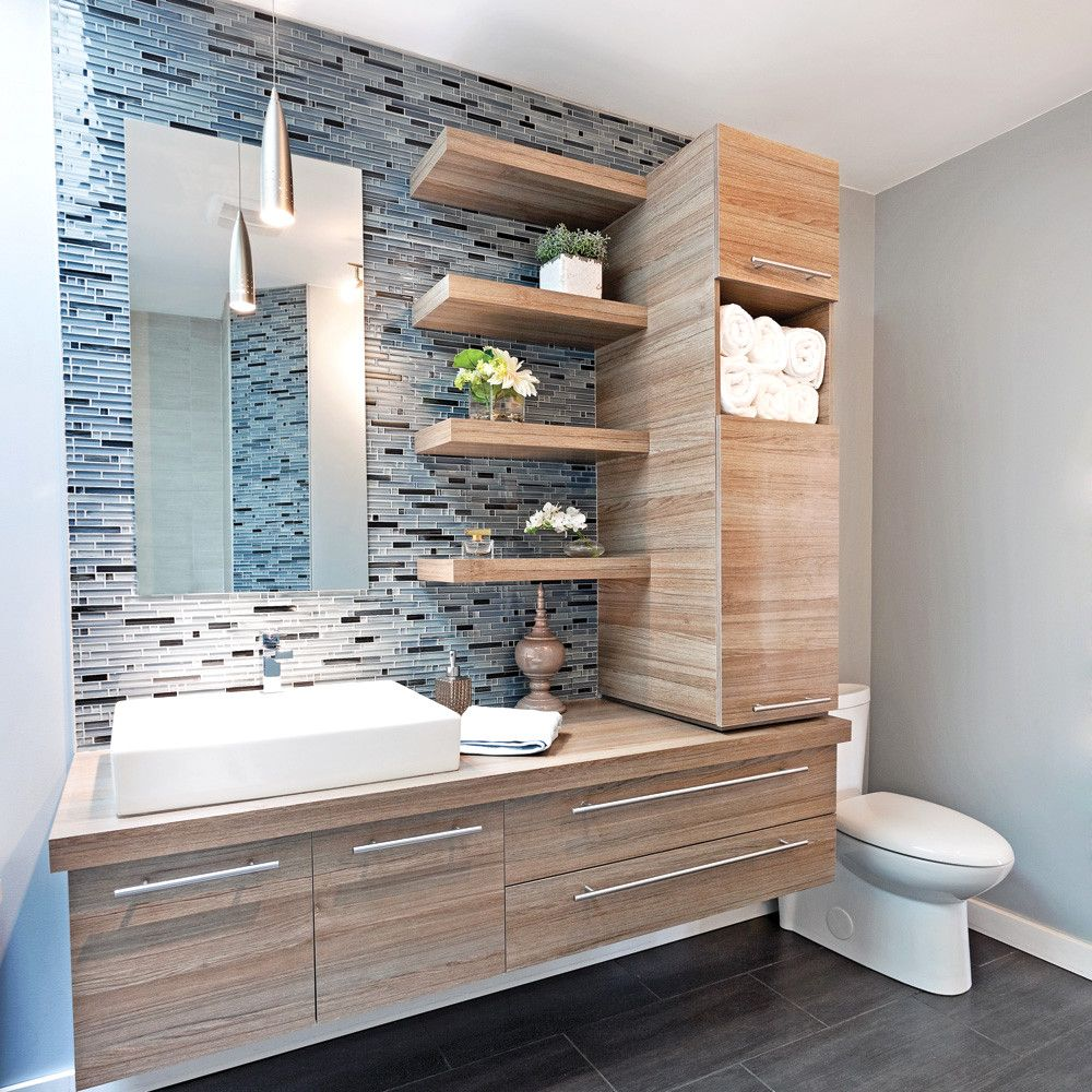 Avant / Après : Une salle de bains dans la cuisine pour ...