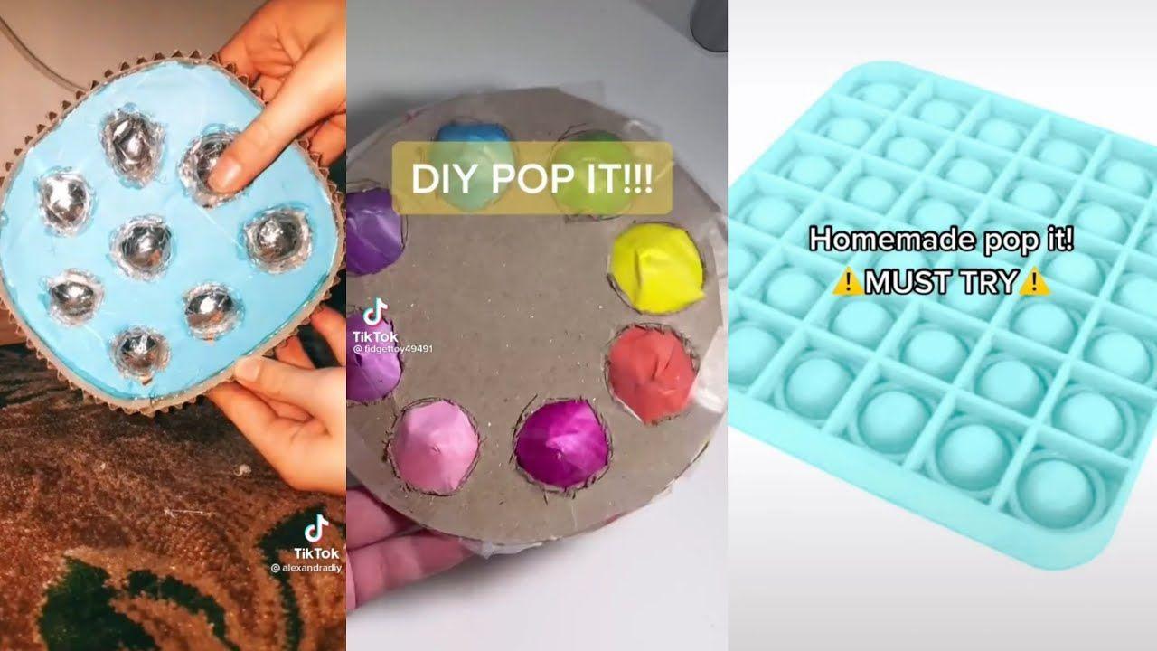Diy Pop It Tiktok Compilation Youtube In 2021 Diy Fidget Toys Homemade Fidget Toys Fidget Toys