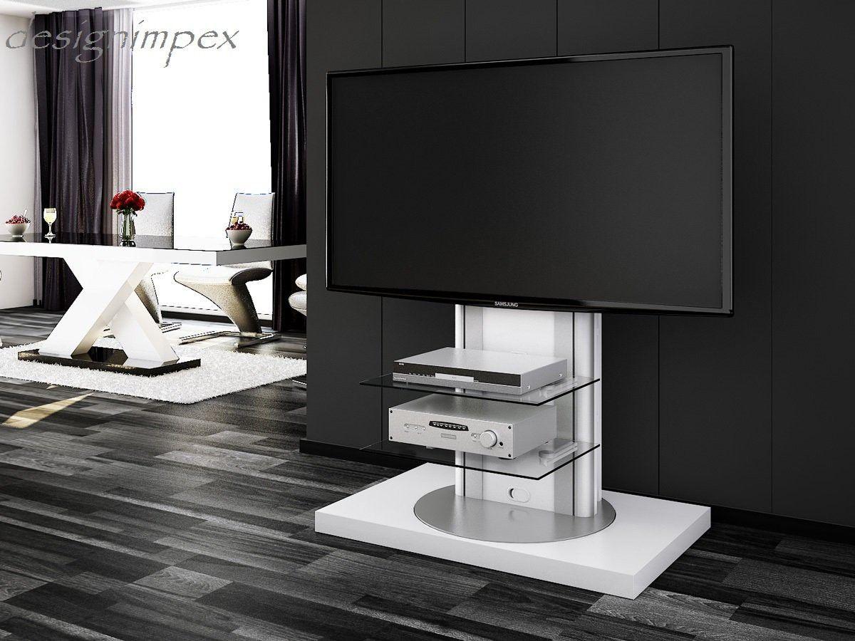 Trend Fernsehtisch H Wei Hochglanz drehbar TV M bel TV Rack LCD inkl TV