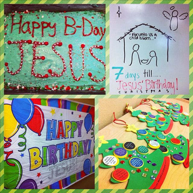 happy birthday Jesus Sunday School party Happy