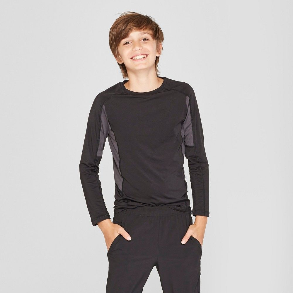 46c3013e The Boys' Novelty Power Core Compression LS Top from C9 Champion features a  slim supportive fit that works well as a base layer or on its own.