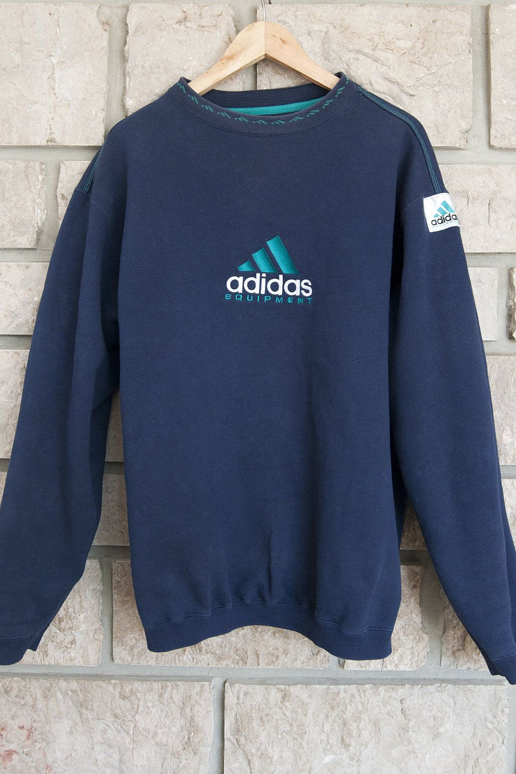 Image of Vintage Turquoise Adidas Equipment Sweatshirt (M