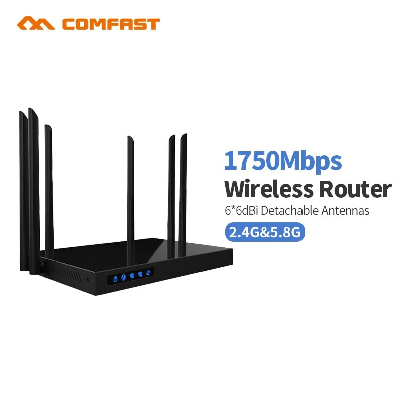 1750mbs Ac Dual Band 2 4ghz 5ghz Comfast Wireless Wifi Router Repeater Lan Extender Gigabit Router Comfast Cf Wireless Wifi Router Wifi Router Wireless Router