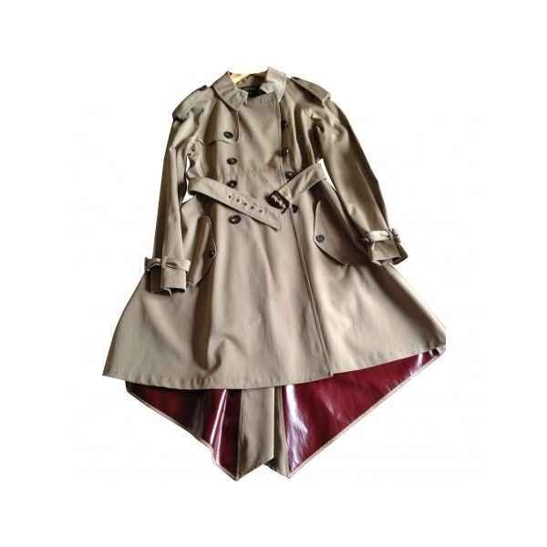 Pre-owned JEAN PAUL GAULTIER Beige Trench coat (€390) ❤ liked on Polyvore featuring outerwear, coats, brown coat, beige trenchcoat, beige trench coat, jean-paul gaultier and brown trench coat