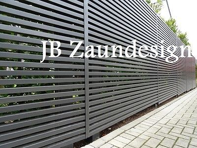 sichtschutzzaun wpc aluminium aluminiumzaun sichtschutz zaeune zaun gartenzaeune garden. Black Bedroom Furniture Sets. Home Design Ideas