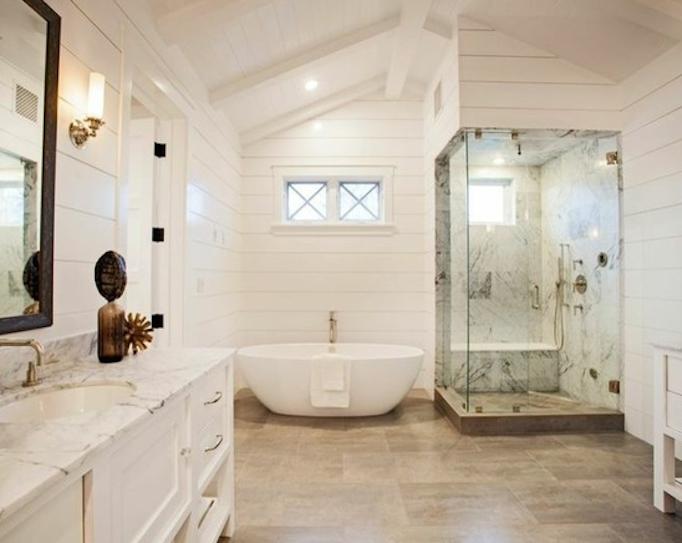 Dreamy Southern California Beach Home Master bathroom