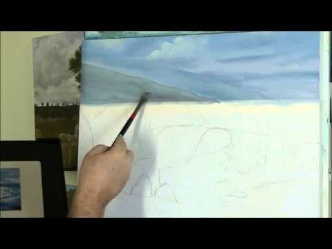 Comment Peindre La Mer 2 Sur 5 Videos Youtube Peinture En 2018