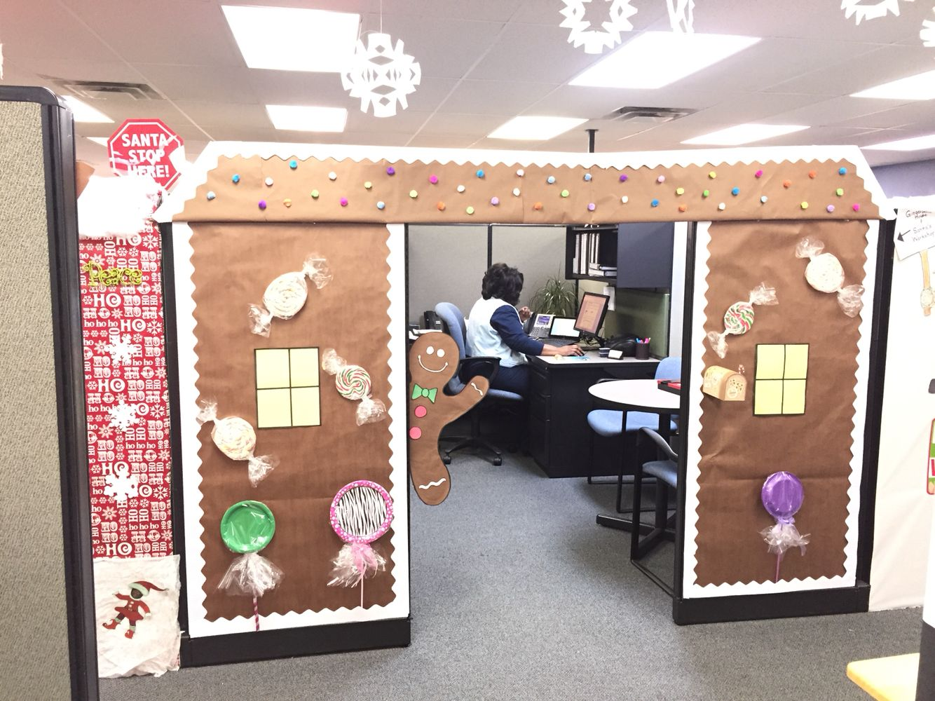 Gingerbread House Office Christmas Decorations Christmas Cubicle Decorations Christmas Desk Decorations