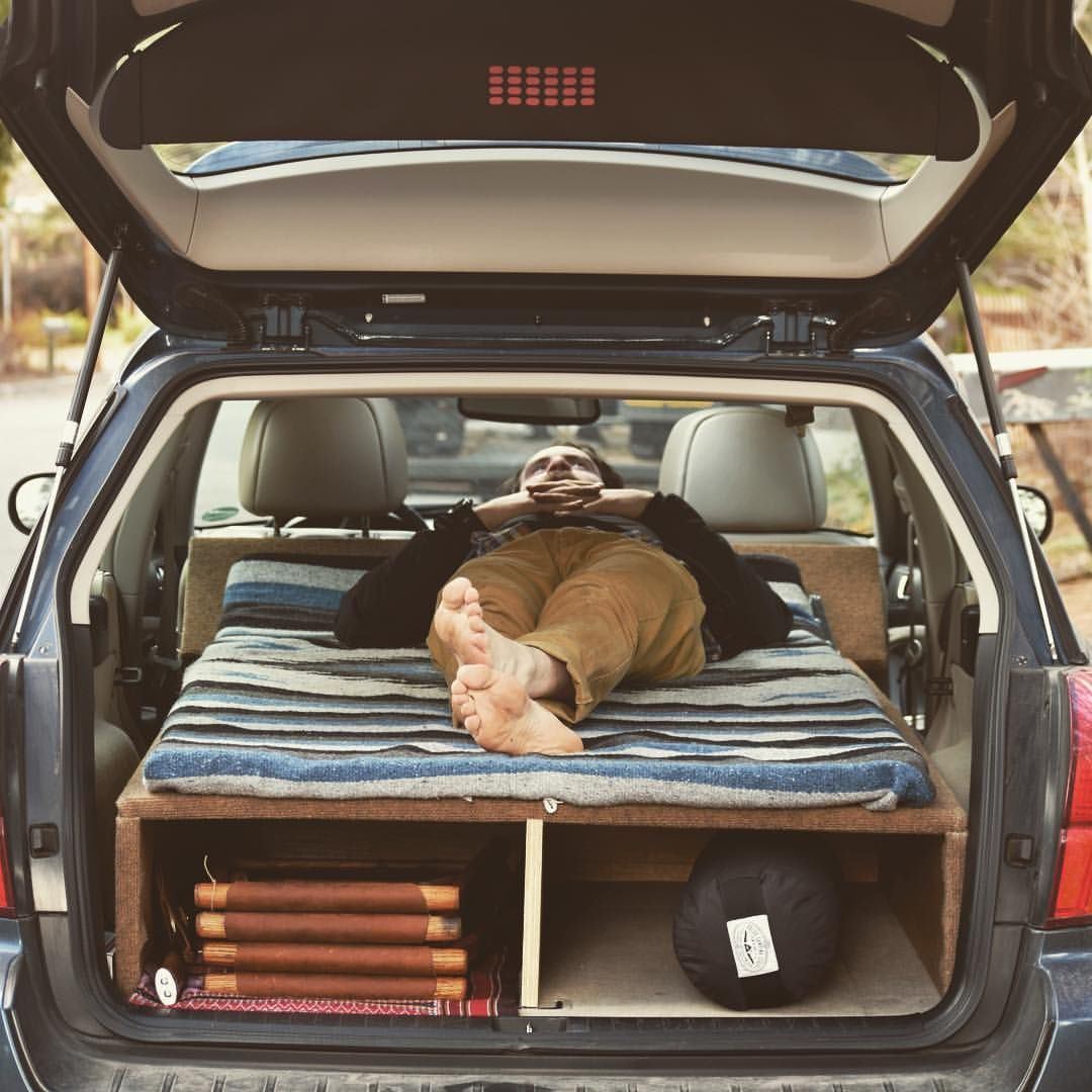 Subaru Outback Sleeping Platform Fully Converted And Ready To Roll 6 3 Inches Head To Toe And 3 More Inches Of Width Than A Twin Size Bed Plenty Of Room For 2 With