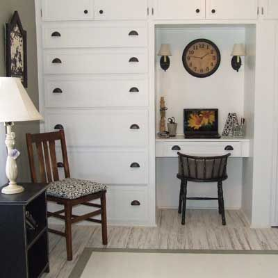 Reader S Remodeled Built In Desk Unit Kitchen And Bath Remodeling Built In Dresser Small Space Cabinet