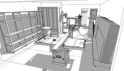 Shop Layout Using Sketchup And The 3d Warehouse