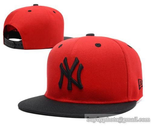 3cf9d225180 MLB New York Yankees Snapback 59Fifty Cap 007 Red Black